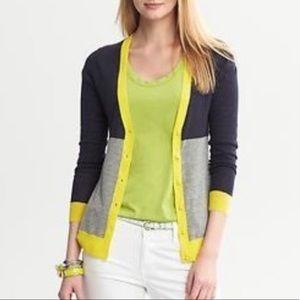 Banana Republic Colorblock Wool Cardigan Sz L